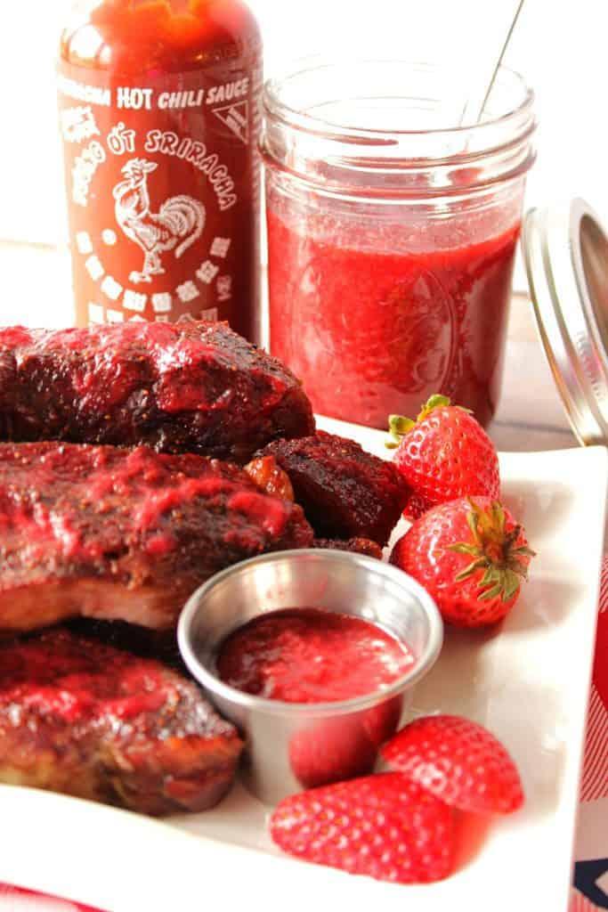 Strawberry Sriracha BBQ Sauce Recipe