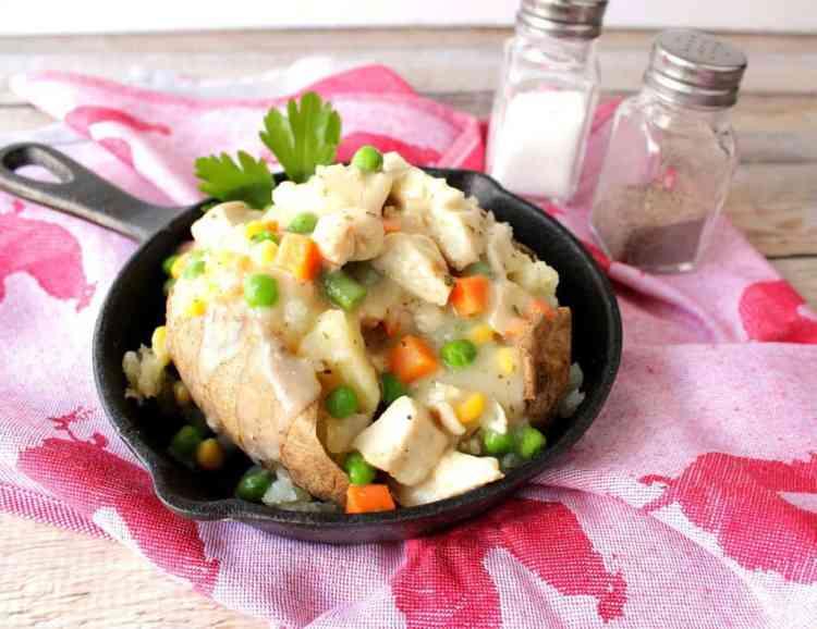 Chicken Pot Potato with cream sauce