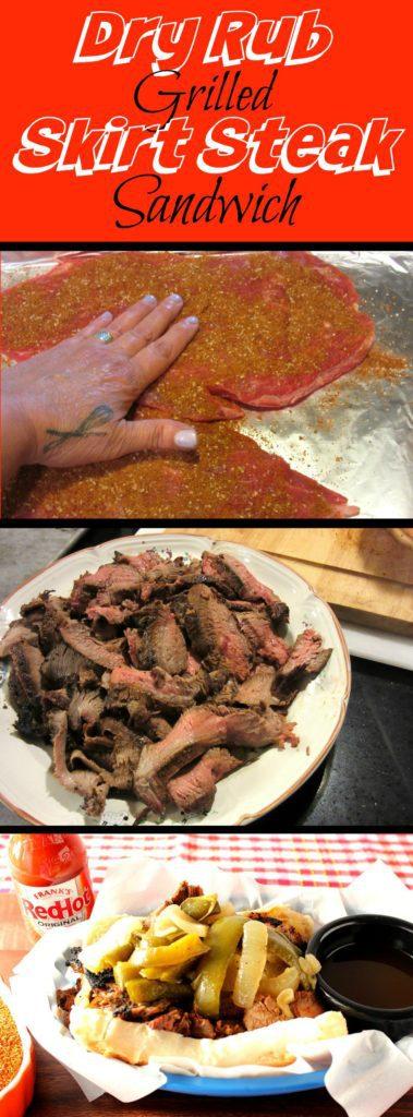 How to make a dry rub skirt steak sandwich