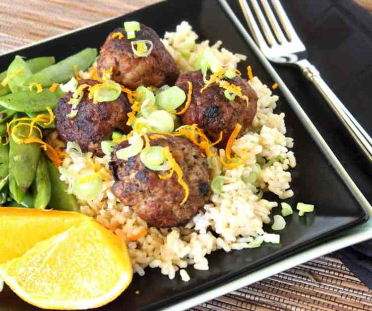 Pork Meatballs with Asian Flavors