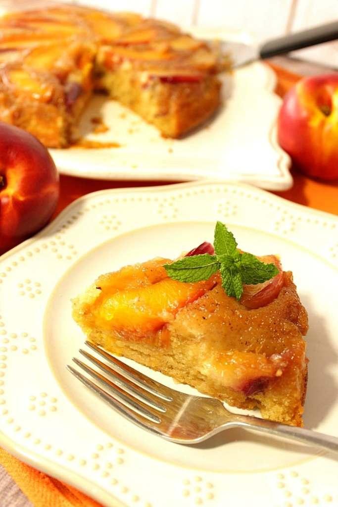 Caramelized Nectarine Upside-Down Cake