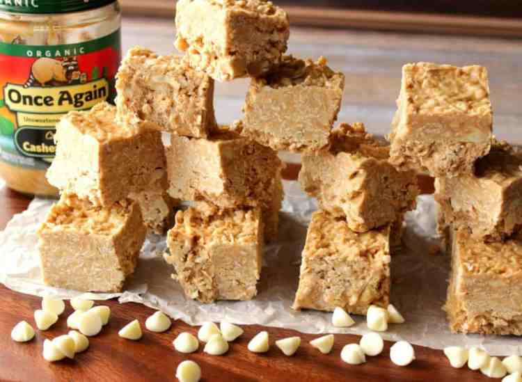 No Bake Oatmeal Cashew Coconut Bars Recipe