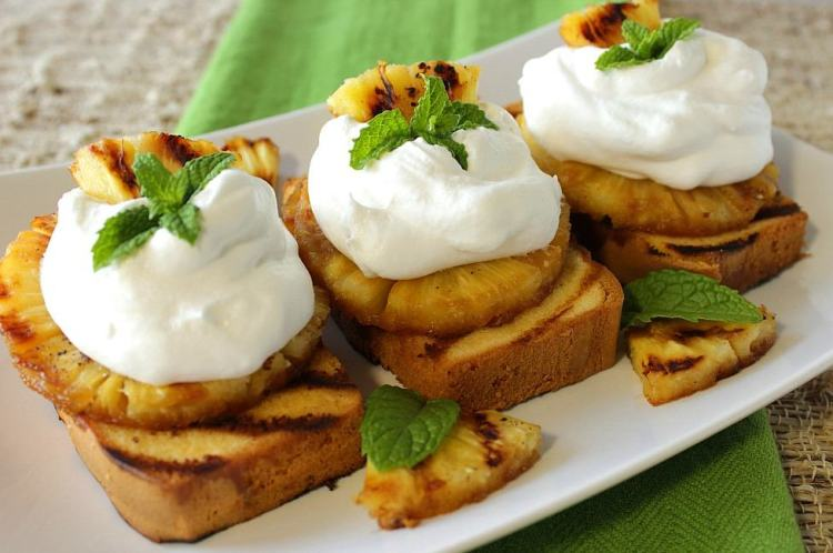 Pound Cake and Pineapple Dessert