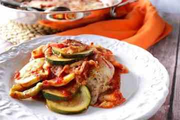 Skillet Zucchini Parmesan Recipe - www.kudoskitchenbyrenee.com
