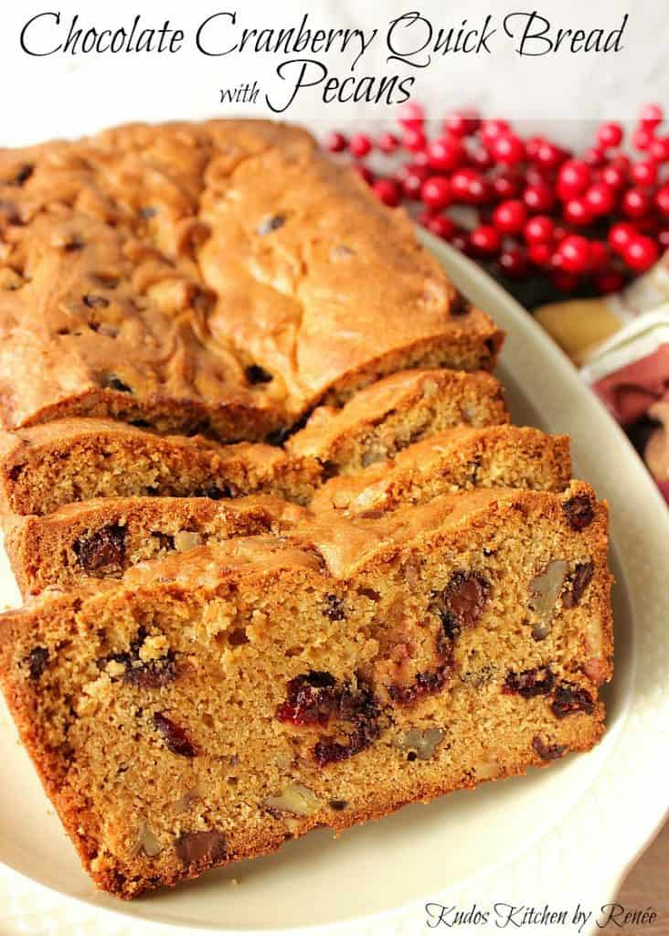 Quick Bread with Cranberries, Chocolate, and Pecans