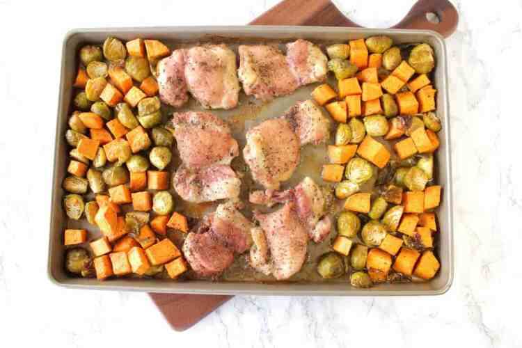 Sheet Pan Supper with Chicken