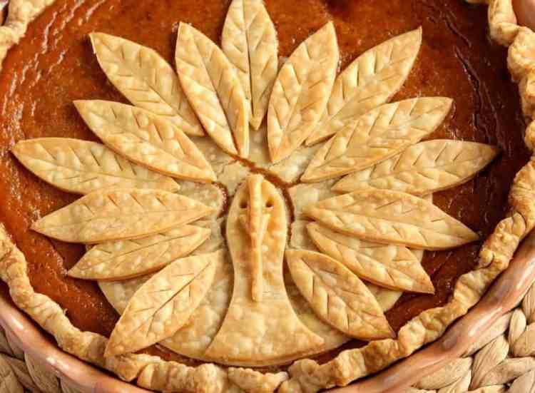 Turkey Crust Pumpkin Pie for Thanksgiving
