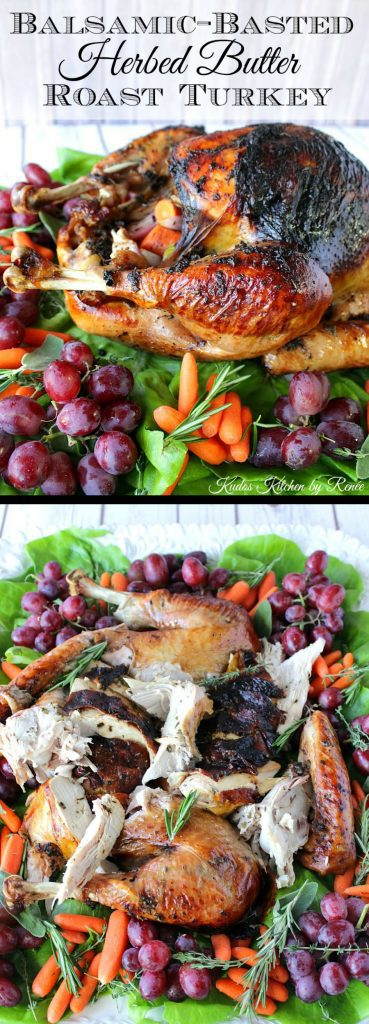 Roast Turkey with Balsamic Glaze with Herbed Butter