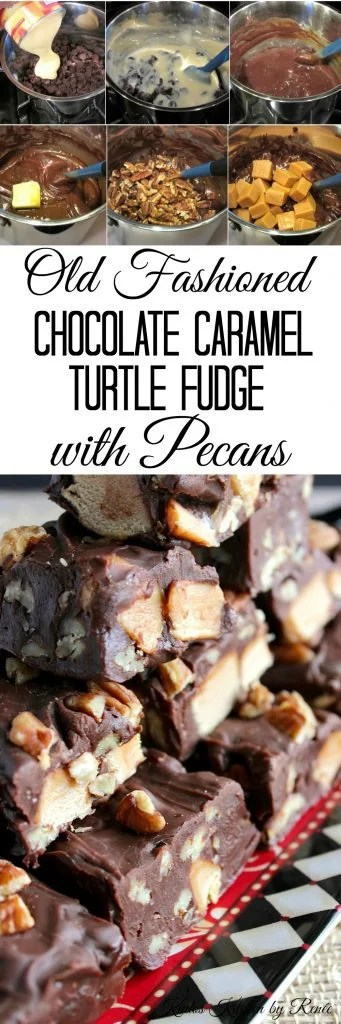 Old Fashioned Chocolate Turtle Fudge