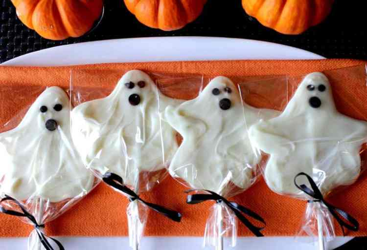 White Chocolate Ghost Pops
