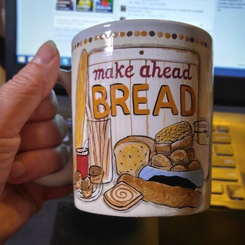 Cookbook Cover Hand Painted Coffee Mug