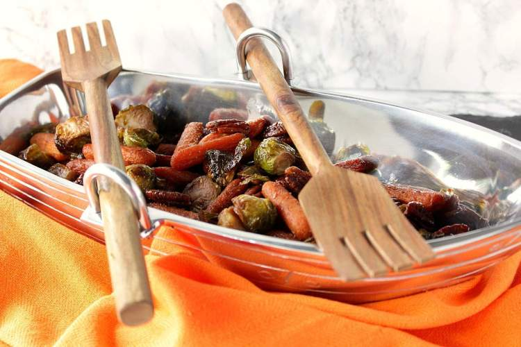 Roasted Pecan Praline Carrots