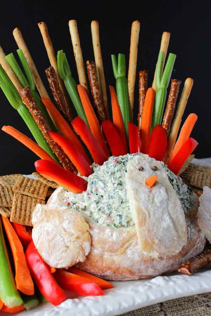 Turkey Bread Bowl Appetizer with Dip