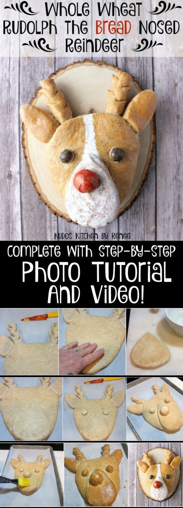 Whole Wheat Rudolph Bread Nosed Reindeer Recipe and Tutorial