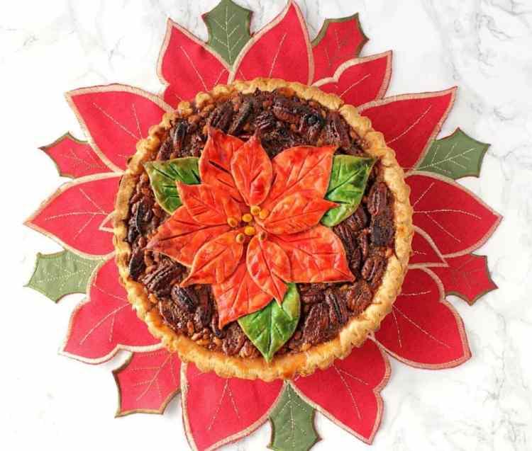 Christmas Bourbon Pecan Pie