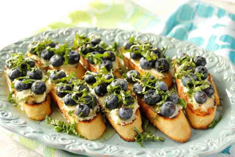 Blueberry Basil Bruschetta