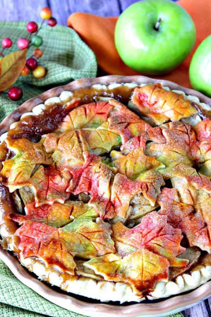 Colorful Leaves Apple Pie Crust