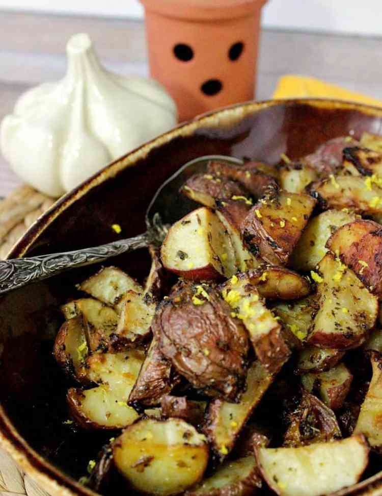 Roasted Red Potatoes with Lemongrass, Garlic & Cilantro