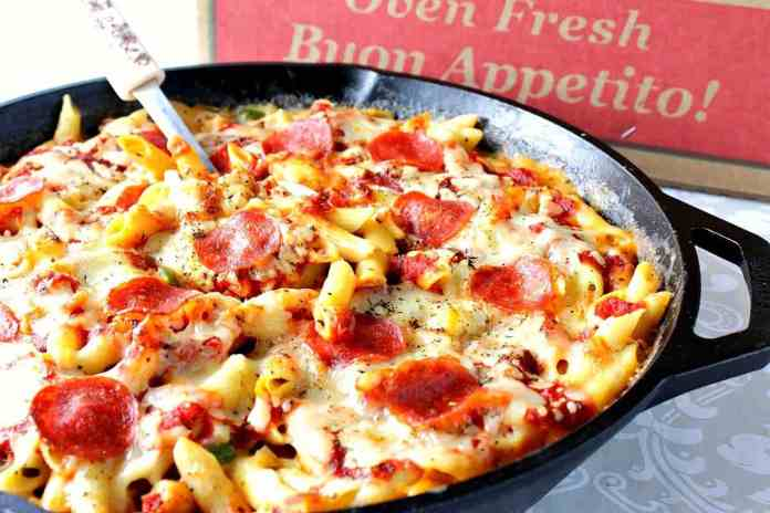 Best Ever Pepperoni Pizza Macaroni and Cheese Recipe