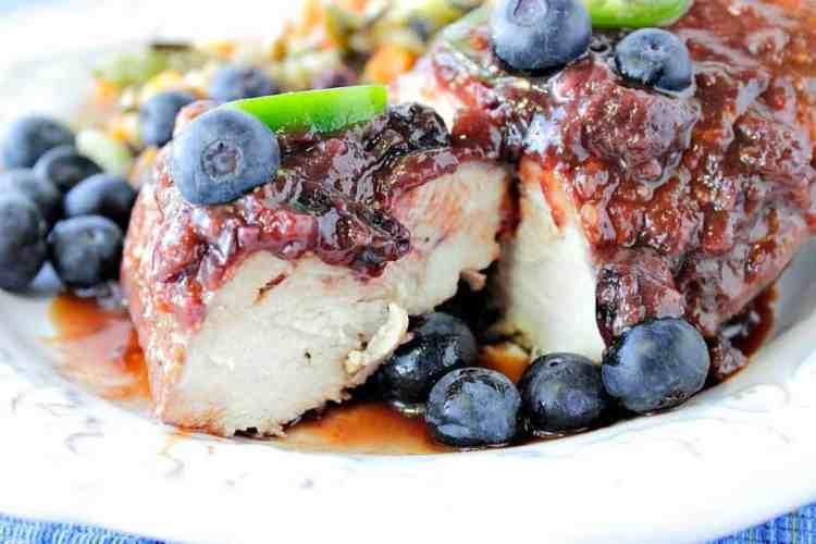 Blueberry Chile Chicken Skillet Dinner - Kudos Kitchen by Renee