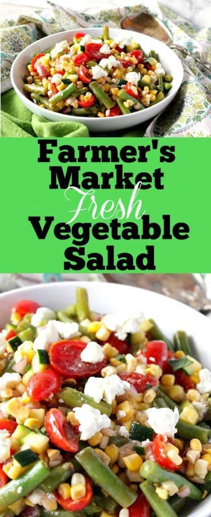 Farmer's Market Vegetable Salad with Corn and Zucchini