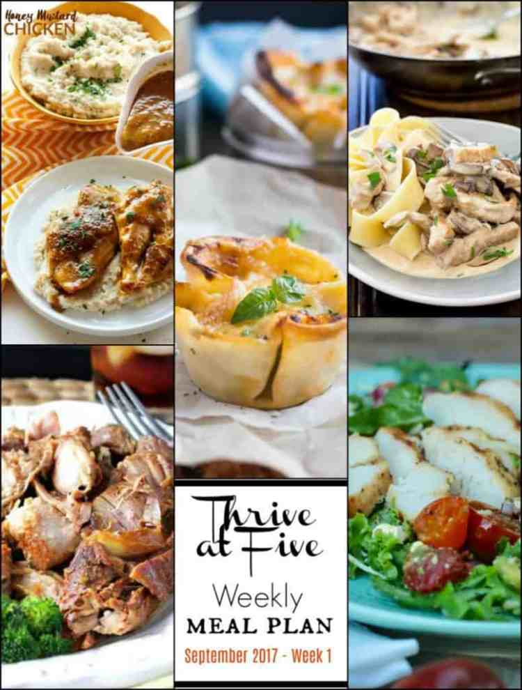 Weekly Meal Planning Week 42 Main Courses
