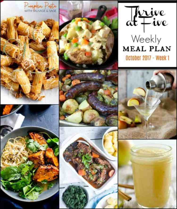 Weekly Meal Planning Collage October Week One