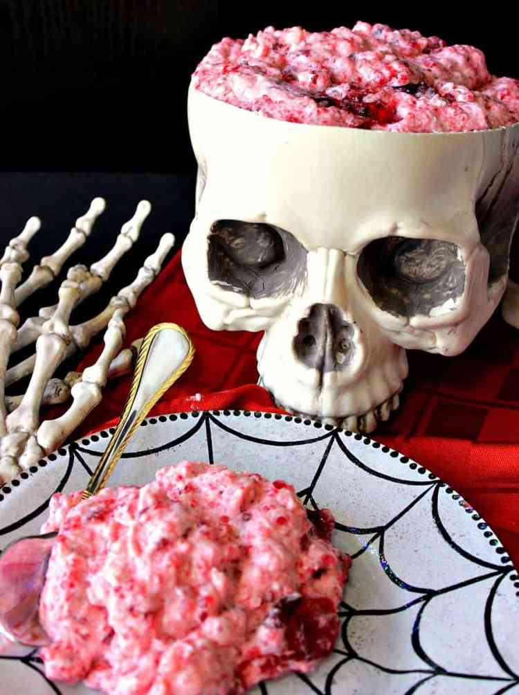 Gory Brain Food Jello Fruit Salad with Pineapple and Whipped Cream | Kudos Kitchen by Renee