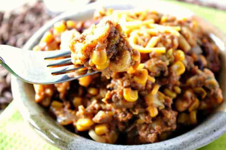 Slow Cooker Chili Mac with cheese and macaroni. | Kudos Kitchen by Renee