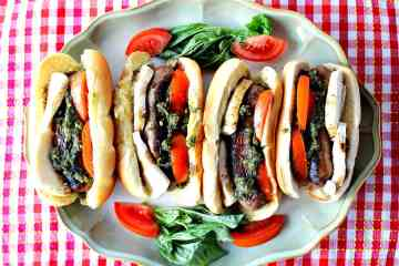 Easy Italian Sausage Caprese Sandwich