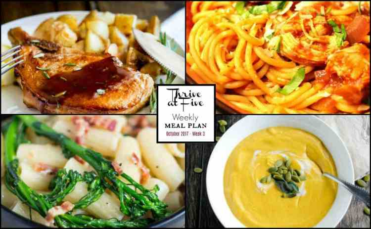 Weekly Meal Planning October Week 3 Photo Collage