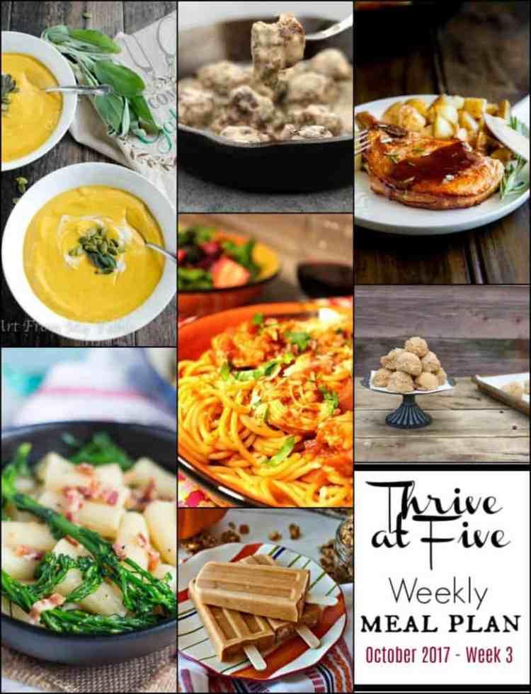 Weekly Meal Planning October Week 3 Collage