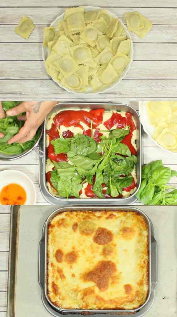 Easy Alfredo Ravioli Lasagna Recipe | Kudos Kitchen by Renee