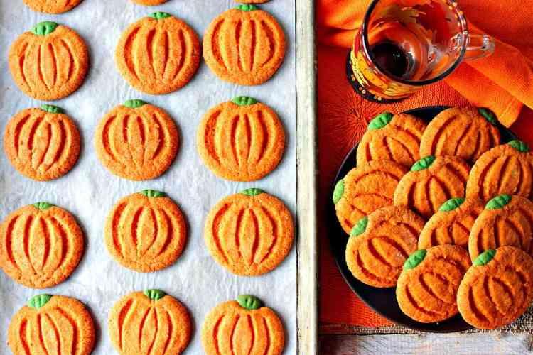 Pumpkin Shaped Sugar Cookies For Thanksgiving | Kudos Kitchen by Renee