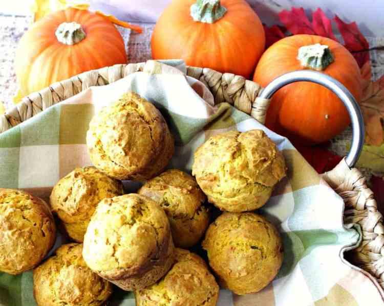Savory Seasonal Pumpkin Sage Biscuits   Kudos Kitchen by Renee