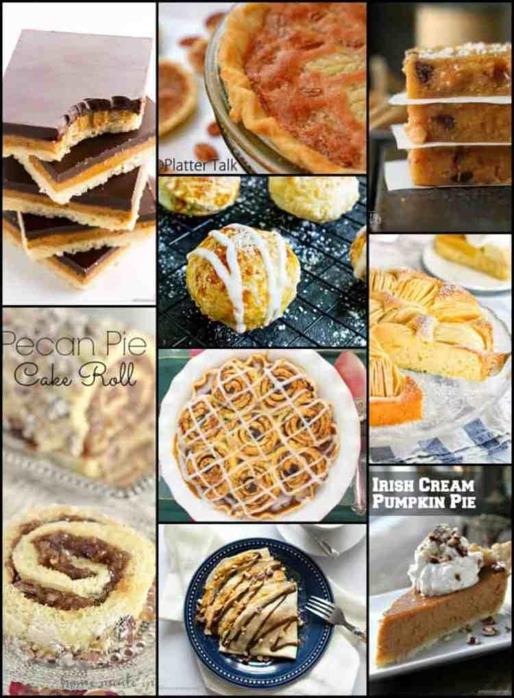 Thanksgiving Dessert Recipe Roundup 2017 Collage