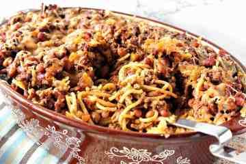 Make Ahead Spaghetti Western Casserole