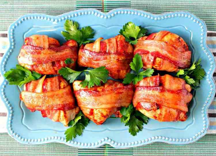 Smoky Sweet Bacon Wrapped Chicken Breast | Kudos Kitchen by Renee