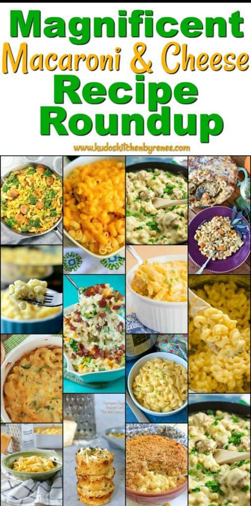 Macaroni & Cheese Recipe Roundup 2018 Friday's Featured Foodie Feastings - www.kudoskitchenbyrenee.com