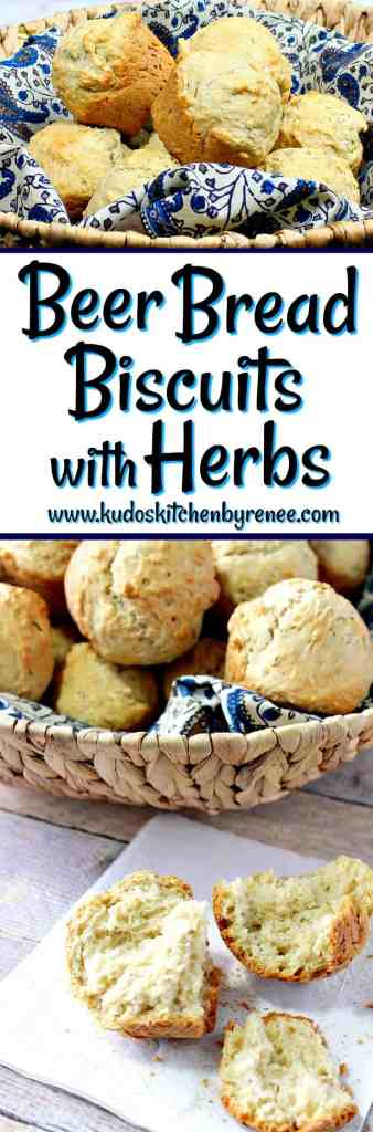 Fast & Easy Beer Bread Biscuits with Herbs - kudoskitchenbyrenee.com