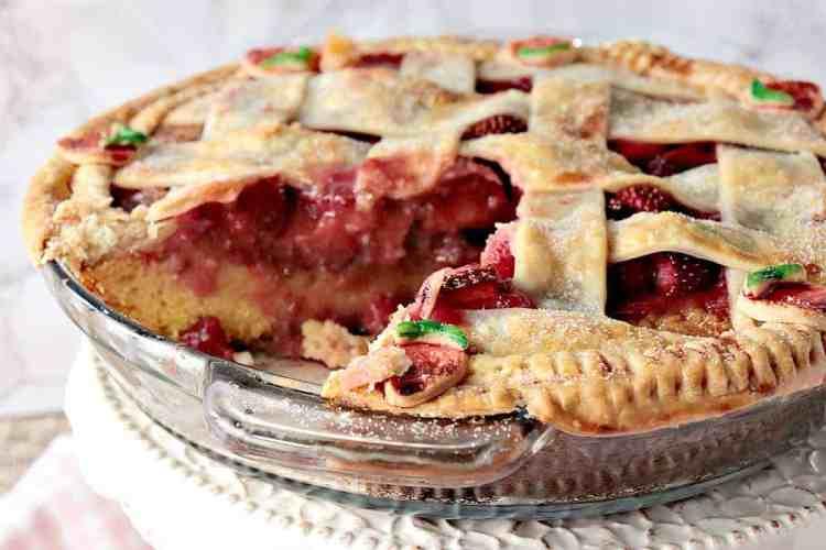 Surprise Strawberry Orange Pie Cake with Lattice Pie Crust Topping