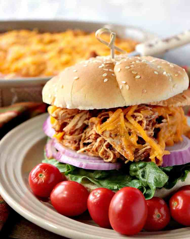 Shredded Salsa Chicken can be eaten plain, for the low carb version, or piled high on a bun for a sandwich for those who prefer their meat with bread. Talk about a versatile recipe the whole family will enjoy!! - kudoskitchenbyrenee.com