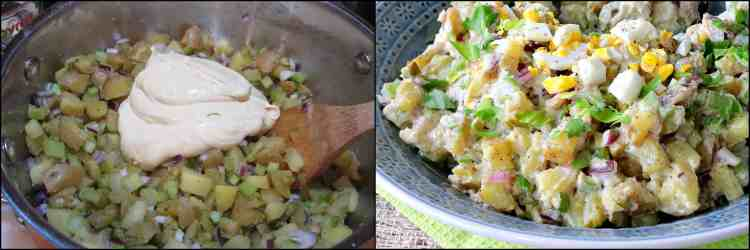 How to make creamy dijon potato salad recipe photo tutorial - kudoskitchenbyrenee.com