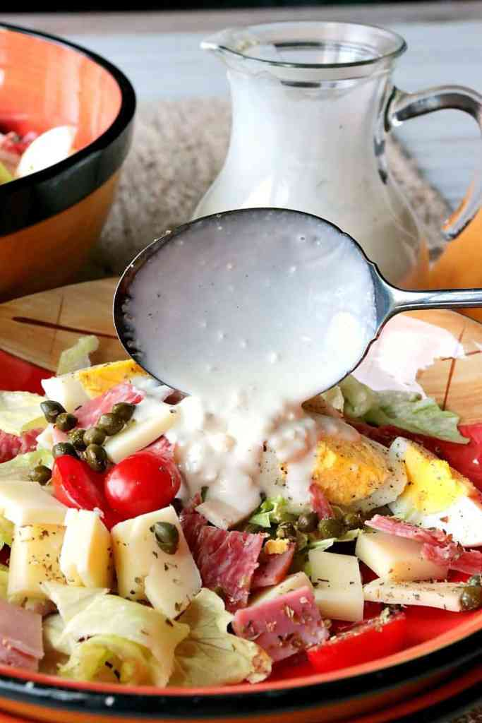 A chef's salad isn't something only to be eaten at restaurants. You can easily make this Chef's Salad with Homemade Blue Cheese Dressing at home with all the great add-ins and flavor you love!