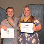 2018 Kudzu Playhouse Scholarship Winners, Riley Young and Ireland Little