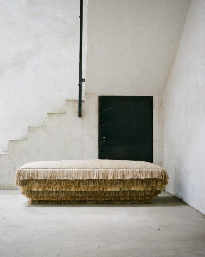 Linen designer furniture by Pauline Esparon