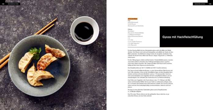 From the quick snack in between to the full-length menu, from the international Gyoza to the Bavarian pork knuckle, amateur cooks will find what they are looking for in the 260-page cookbook. (Photo: Thorsten kleine Holthaus for Tre Torri Verlag)