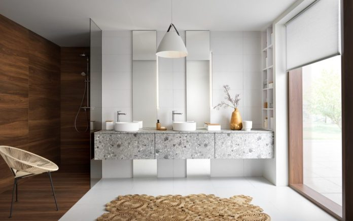 Every year, the SCHMIDT Group launches new collections for furniture, wardrobes, dressing rooms, kitchens and bathrooms. New and trendy materials such as terrazzo are also taken up. (Photo: SCHMIDT Kitchens)