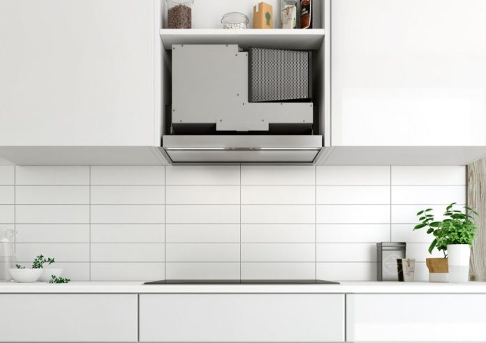 Modern built-in hoods do not at least occupy the entire height of the wall unit. (Photo: berbel)