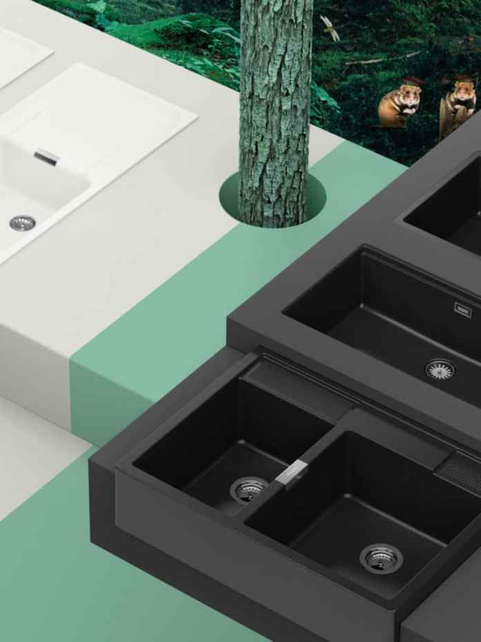 White or black?  The main thing is green!  The Green Line kitchen sinks from SCHOCK.  (Photo: SCHOCK)